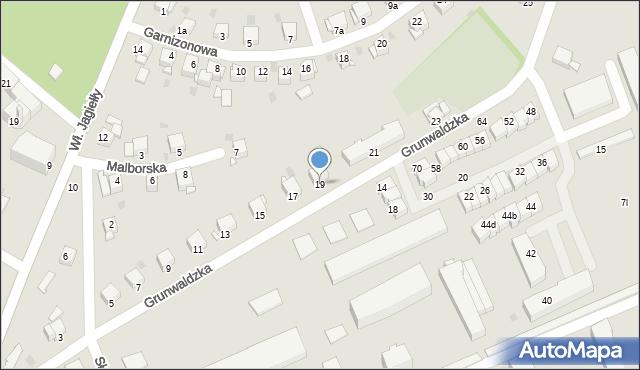 Grudziądz, Grunwaldzka, 19, mapa Grudziądza