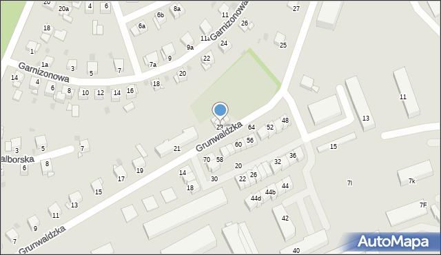 Grudziądz, Grunwaldzka, 23, mapa Grudziądza
