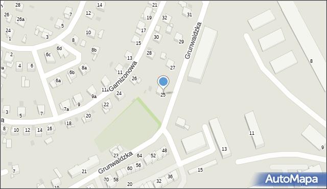 Grudziądz, Grunwaldzka, 25, mapa Grudziądza