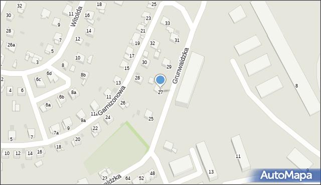 Grudziądz, Grunwaldzka, 27, mapa Grudziądza
