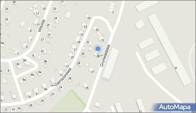 Grudziądz, Grunwaldzka, 29, mapa Grudziądza