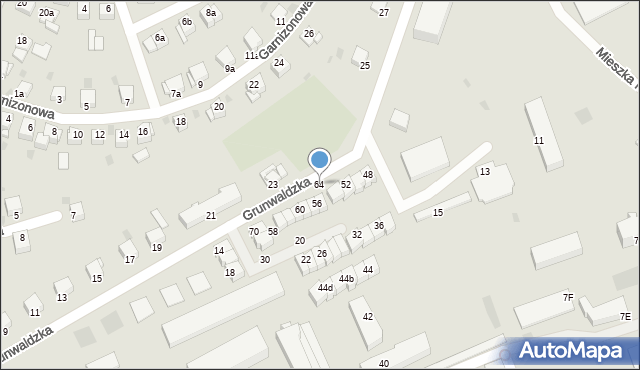 Grudziądz, Grunwaldzka, 64, mapa Grudziądza