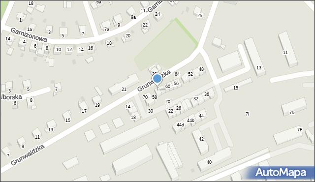 Grudziądz, Grunwaldzka, 66, mapa Grudziądza