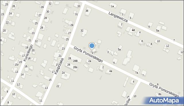 Grudziądz, Gryfa Pomorskiego, 1, mapa Grudziądza