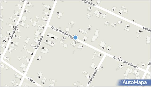 Grudziądz, Gryfa Pomorskiego, 2, mapa Grudziądza