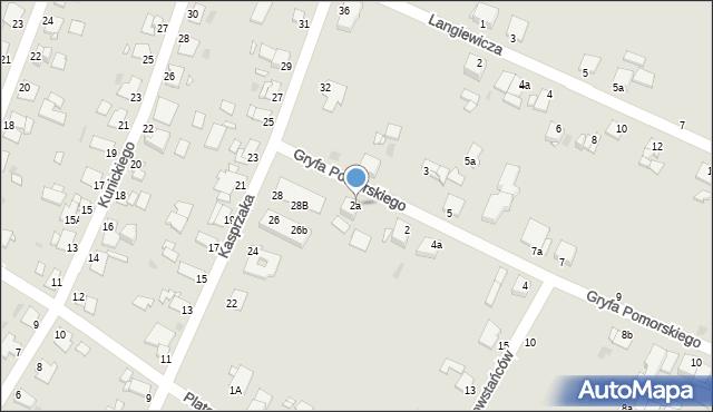 Grudziądz, Gryfa Pomorskiego, 2a, mapa Grudziądza