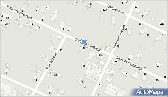 Grudziądz, Gryfa Pomorskiego, 8b, mapa Grudziądza