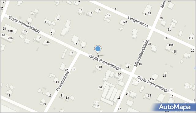 Grudziądz, Gryfa Pomorskiego, 9, mapa Grudziądza