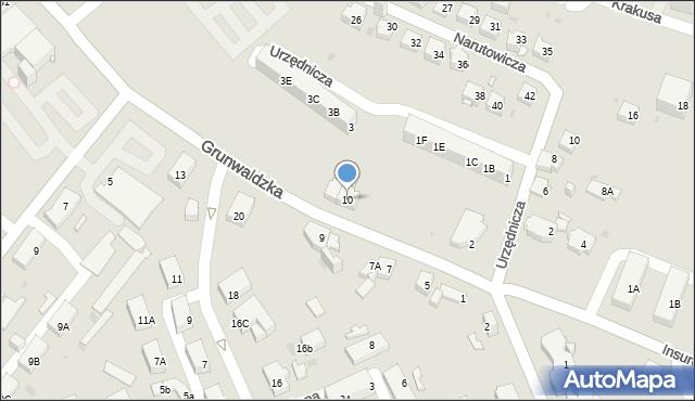 Jaworzno, Grunwaldzka, 10, mapa Jaworzno