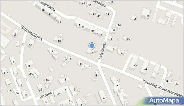 Jaworzno, Grunwaldzka, 2, mapa Jaworzno