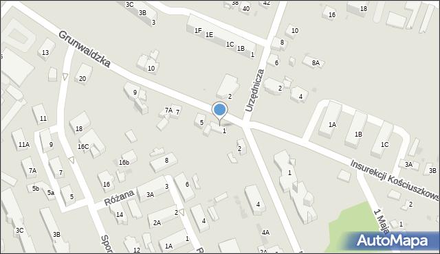 Jaworzno, Grunwaldzka, 3, mapa Jaworzno