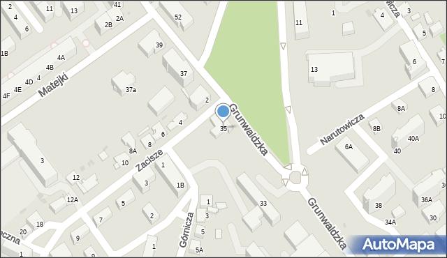 Jaworzno, Grunwaldzka, 35, mapa Jaworzno
