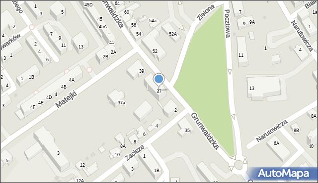 Jaworzno, Grunwaldzka, 37, mapa Jaworzno