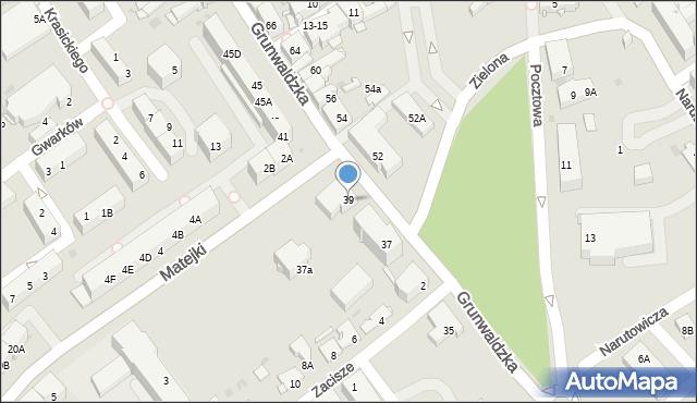 Jaworzno, Grunwaldzka, 39, mapa Jaworzno