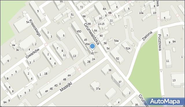Jaworzno, Grunwaldzka, 41, mapa Jaworzno