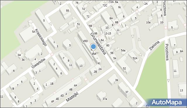 Jaworzno, Grunwaldzka, 45A, mapa Jaworzno