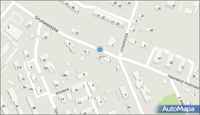 Jaworzno, Grunwaldzka, 5, mapa Jaworzno