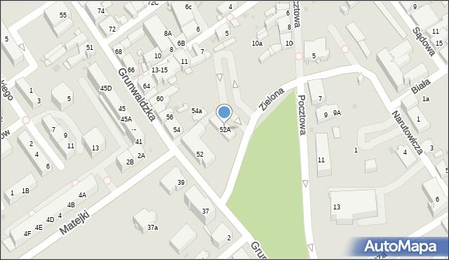 Jaworzno, Grunwaldzka, 52A, mapa Jaworzno