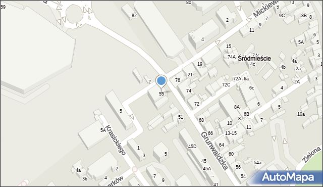 Jaworzno, Grunwaldzka, 55, mapa Jaworzno