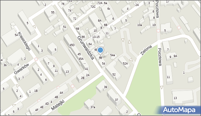 Jaworzno, Grunwaldzka, 56, mapa Jaworzno
