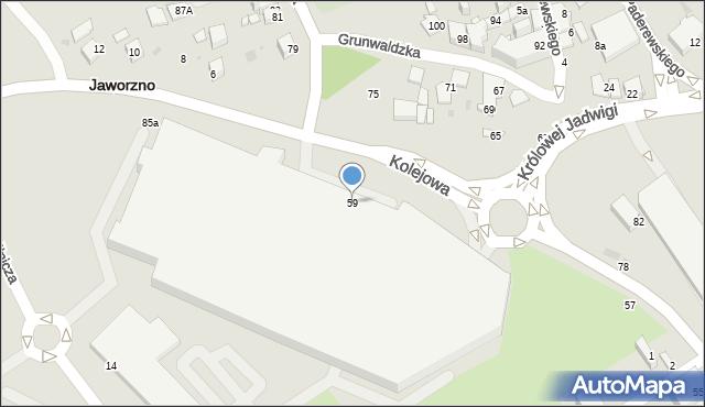 Jaworzno, Grunwaldzka, 59, mapa Jaworzno