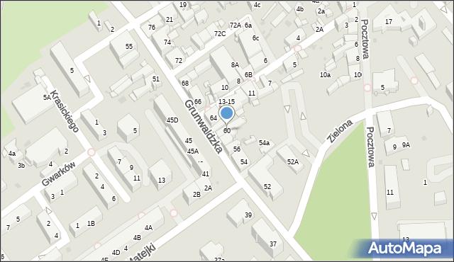 Jaworzno, Grunwaldzka, 60, mapa Jaworzno