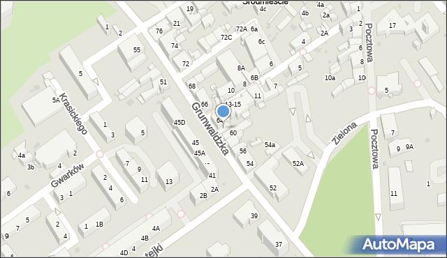 Jaworzno, Grunwaldzka, 62, mapa Jaworzno