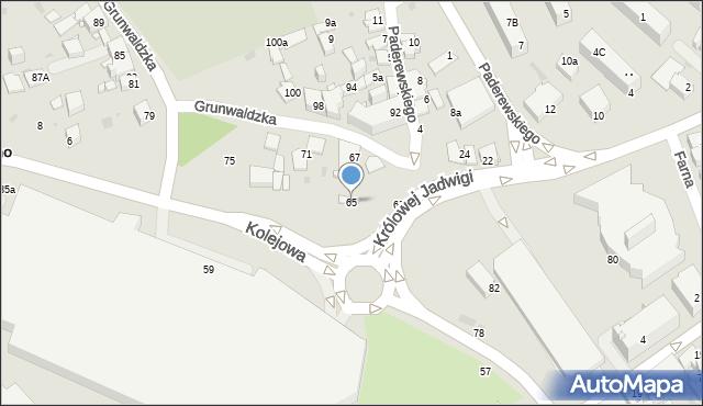 Jaworzno, Grunwaldzka, 65, mapa Jaworzno