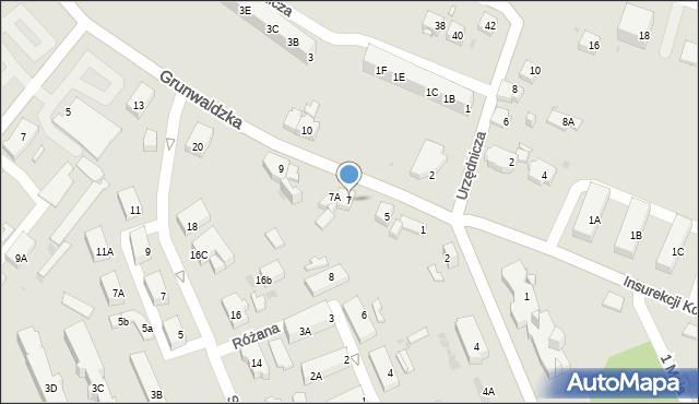 Jaworzno, Grunwaldzka, 7, mapa Jaworzno