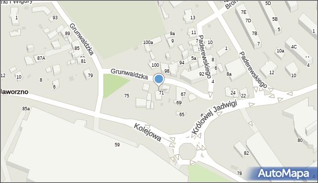 Jaworzno, Grunwaldzka, 73, mapa Jaworzno