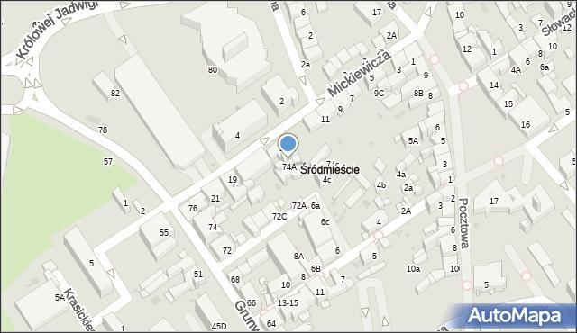 Jaworzno, Grunwaldzka, 74A, mapa Jaworzno