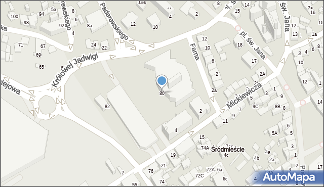 Jaworzno, Grunwaldzka, 80, mapa Jaworzno