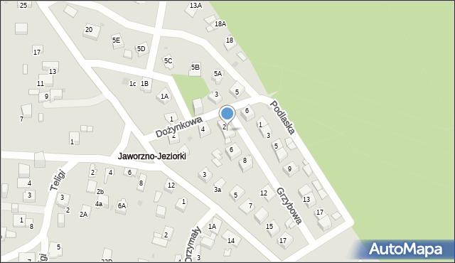 Jaworzno, Grzybowa, 4, mapa Jaworzno