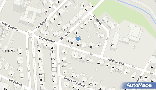 Kraków, Grochowska, 12, mapa Krakowa