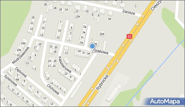 Łaziska Górne, Grabowa, 1g, mapa Łaziska Górne