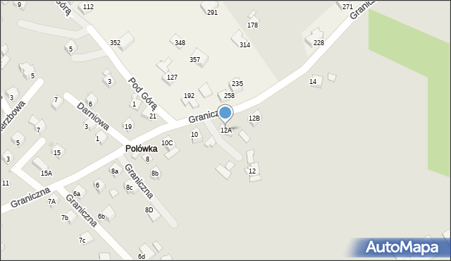 Limanowa, Graniczna, 12A, mapa Limanowa