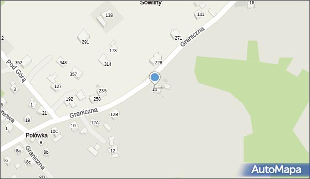 Limanowa, Graniczna, 14, mapa Limanowa
