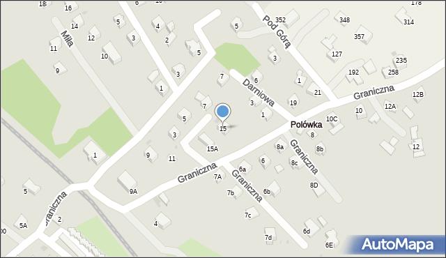 Limanowa, Graniczna, 15, mapa Limanowa