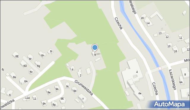 Limanowa, Grunwaldzka, 6, mapa Limanowa