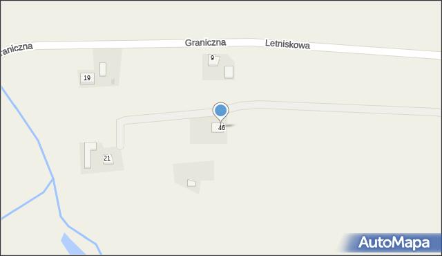 Łowiczki, Graniczna, 46, mapa Łowiczki