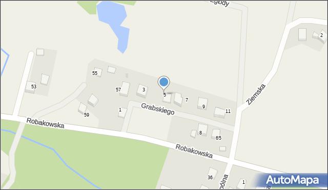 Luzino, Grabskiego, 5, mapa Luzino