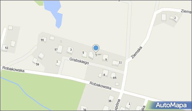 Luzino, Grabskiego, 7, mapa Luzino