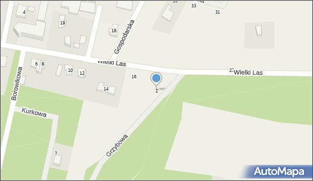 Luzino, Grzybowa, 2, mapa Luzino