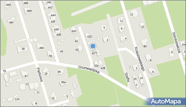 Marki, Grunwaldzka, 42, mapa Marki