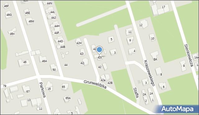 Marki, Grunwaldzka, 42c, mapa Marki