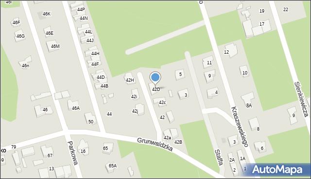 Marki, Grunwaldzka, 42D, mapa Marki