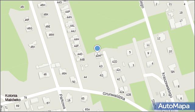 Marki, Grunwaldzka, 42H, mapa Marki