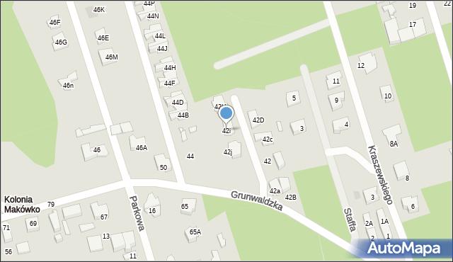 Marki, Grunwaldzka, 42i, mapa Marki