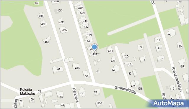 Marki, Grunwaldzka, 44B, mapa Marki