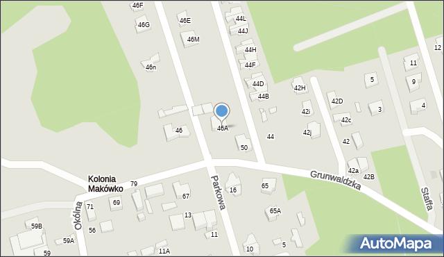 Marki, Grunwaldzka, 46A, mapa Marki